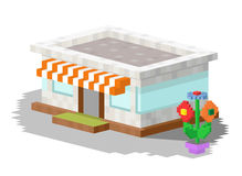 Ilustração do vetor da construção do mercado da loja Imagem de Stock