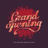 Ilustração do vetor da grande inauguração, fundo para a loja, clube Imagem de Stock Royalty Free