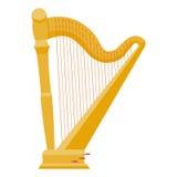 Ilustração do vetor da harpa harpa no fundo branco Imagem de Stock Royalty Free