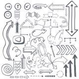 Ilustração do vetor de ícones da seta Imagens de Stock