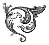 Ilustração do vetor de um elemento floral abstrato Imagens de Stock Royalty Free