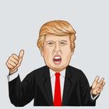 Ilustração do vetor de um retrato de Donald John Trump Foto de Stock