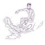 Ilustração do vetor de um surfista Fotos de Stock