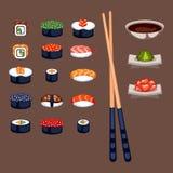 Ilustração do vetor do alimento do sushi Foto de Stock