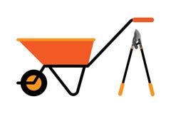 Ilustração do vetor do carrinho de mão da construção Imagens de Stock