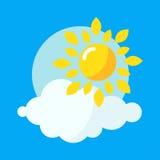 Ilustração do vetor do ícone de Sun Foto de Stock