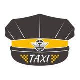 Ilustração do vetor do crachá do táxi Imagens de Stock