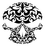 Ilustração do vetor do crânio tribal Fotos de Stock Royalty Free