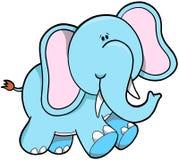 Ilustração do vetor do elefante Fotografia de Stock Royalty Free