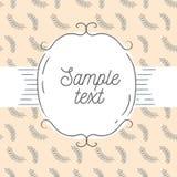 Ilustração do vetor do fundo e do quadro do vintage Molde para o cartão, o convite do casamento ou o menu Fotos de Stock