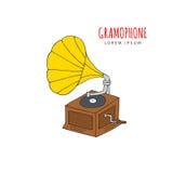 Ilustração do vetor do gramofone Imagens de Stock