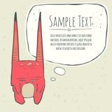 Ilustração do vetor do monstro cor-de-rosa pequeno com Fotografia de Stock Royalty Free