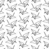 Ilustração do vetor do teste padrão de papel do pássaro do origâmi Fotos de Stock Royalty Free