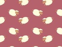 Ilustração do vetor do teste padrão dos carneiros Fotos de Stock Royalty Free