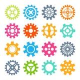 Ilustração do vetor dos ícones da engrenagem Imagens de Stock Royalty Free