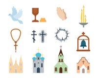 Ilustração do vetor dos ícones da religião Imagem de Stock
