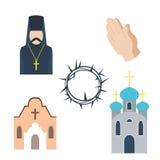 Ilustração do vetor dos ícones da religião Imagem de Stock Royalty Free