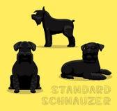 Ilustração do vetor dos desenhos animados do Schnauzer padrão do cão Imagem de Stock