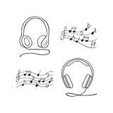 Ilustração do vetor dos fones de ouvido Fotografia de Stock