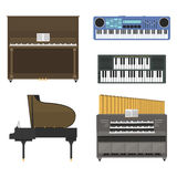Ilustração do vetor dos instrumentos musicais do teclado Fotos de Stock Royalty Free