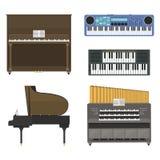 Ilustração do vetor dos instrumentos musicais do teclado Fotos de Stock Royalty Free