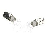 Ilustração dos abanadores de sal e de pimenta Fotos de Stock