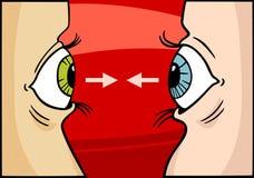 Ilustração dos desenhos animados da competição olhar fixamente Fotografia de Stock