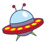 Ilustração dos desenhos animados da nave espacial Fotografia de Stock Royalty Free