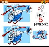 Ilustração dos desenhos animados da tarefa das diferenças Foto de Stock Royalty Free
