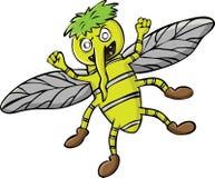 Ilustração dos desenhos animados de uns desenhos animados maus do mosquito Fotos de Stock