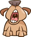 Ilustração dos desenhos animados do bocejo do cão Fotografia de Stock