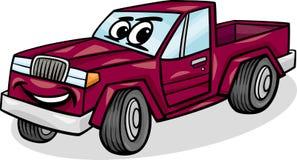 Ilustração dos desenhos animados do caráter do carro do recolhimento Fotos de Stock
