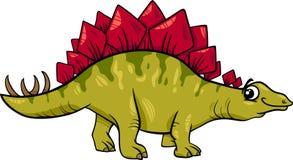 Ilustração dos desenhos animados do dinossauro do Stegosaurus Fotografia de Stock