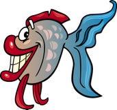 Ilustração dos desenhos animados dos peixes Imagem de Stock