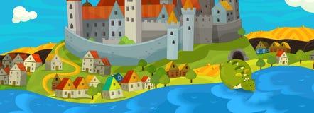 Ilustração dos desenhos animados - dragão verde Foto de Stock Royalty Free