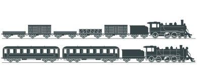 Ilustração dos motores de vapor   Imagens de Stock