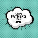Ilustração feliz do vetor do fundo do cartão do cartaz do dia do ` s do pai Imagem de Stock Royalty Free