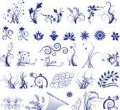 Ilustração floral dos elementos Fotos de Stock