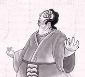 Ilustração imaginativa da monge Foto de Stock