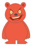 Ilustração irritada do personagem de banda desenhada do urso Imagens de Stock Royalty Free