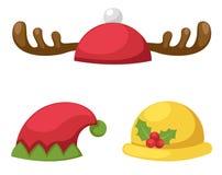 Ilustração isolada grupo do vetor do chapéu Fotografia de Stock