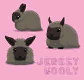 Ilustração lanoso do vetor dos desenhos animados do jérsei do coelho Fotografia de Stock Royalty Free