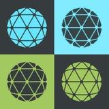 Ilustração lisa do grupo de cor do pop art do projeto do poliedro do vetor Imagem de Stock Royalty Free