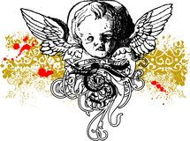 Ilustração má do Cherub Fotografia de Stock Royalty Free