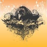 Ilustração má do corvo Fotos de Stock Royalty Free
