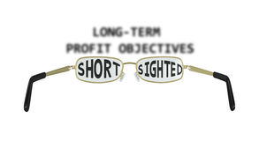 Ilustração míope da miopia do negócio Imagens de Stock