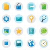 Ilustração móvel do vetor dos ícones dos ícones lisos e dos ícones da Web do Internet Imagens de Stock