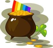 Ilustração no dia de St. Patrick Foto de Stock