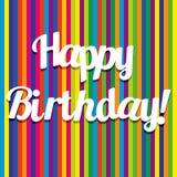 Ilustração para o cartão do feliz aniversario Fotos de Stock