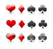 Ilustração para símbolos do cartão Foto de Stock